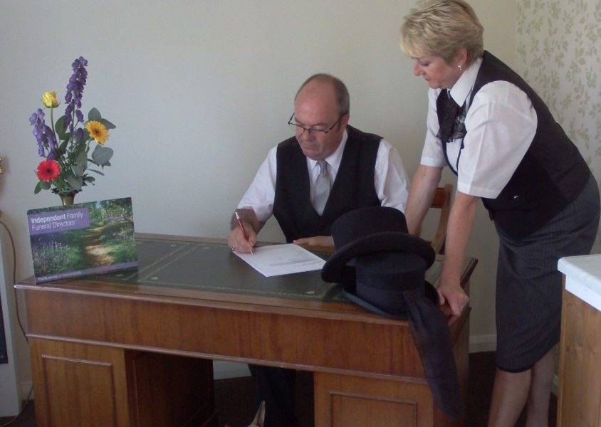Murrant Family Funeral Services - Michael and Lynn at work