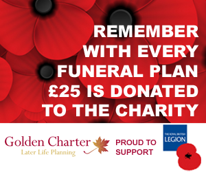 Remember with every funeral plan, £25 is donated to the British Legion
